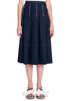 Marni Cotton Poplin Skirt