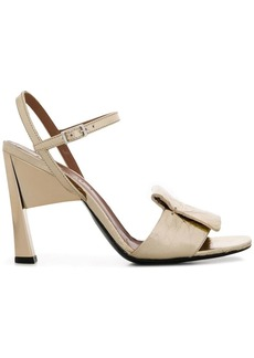 Marni crinkled patch sandals