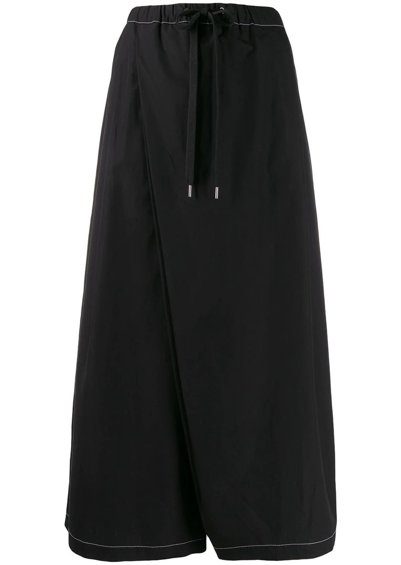 Marni slanted crotch poplin trousers