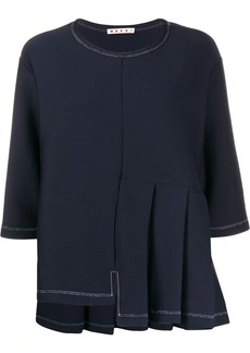 Marni deconstructed pleated top