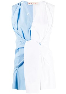 Marni deconstructed sleeveless shirt
