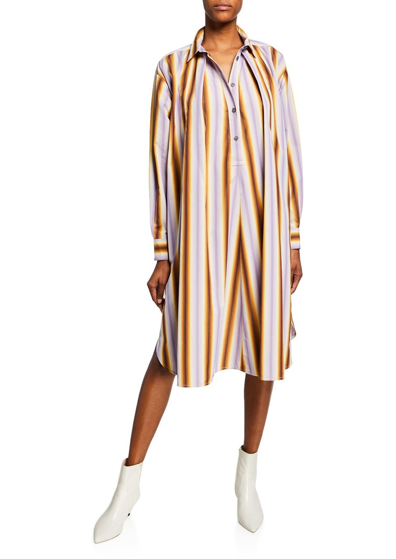 Marni Degrade Striped Poplin Shirt