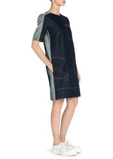 Marni Denim Seam Pocket Shift Dress