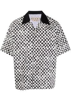 Marni dice-print short-sleeve shirt