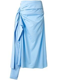 Marni draped midi skirt
