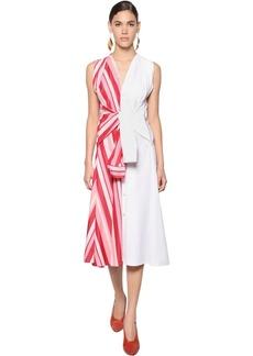 Marni Draped Cotton Poplin Dress
