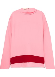 Marni Draped Crepe De Chine Blouse