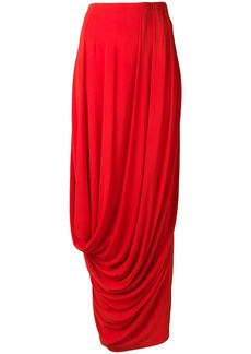 Marni draped maxi skirt