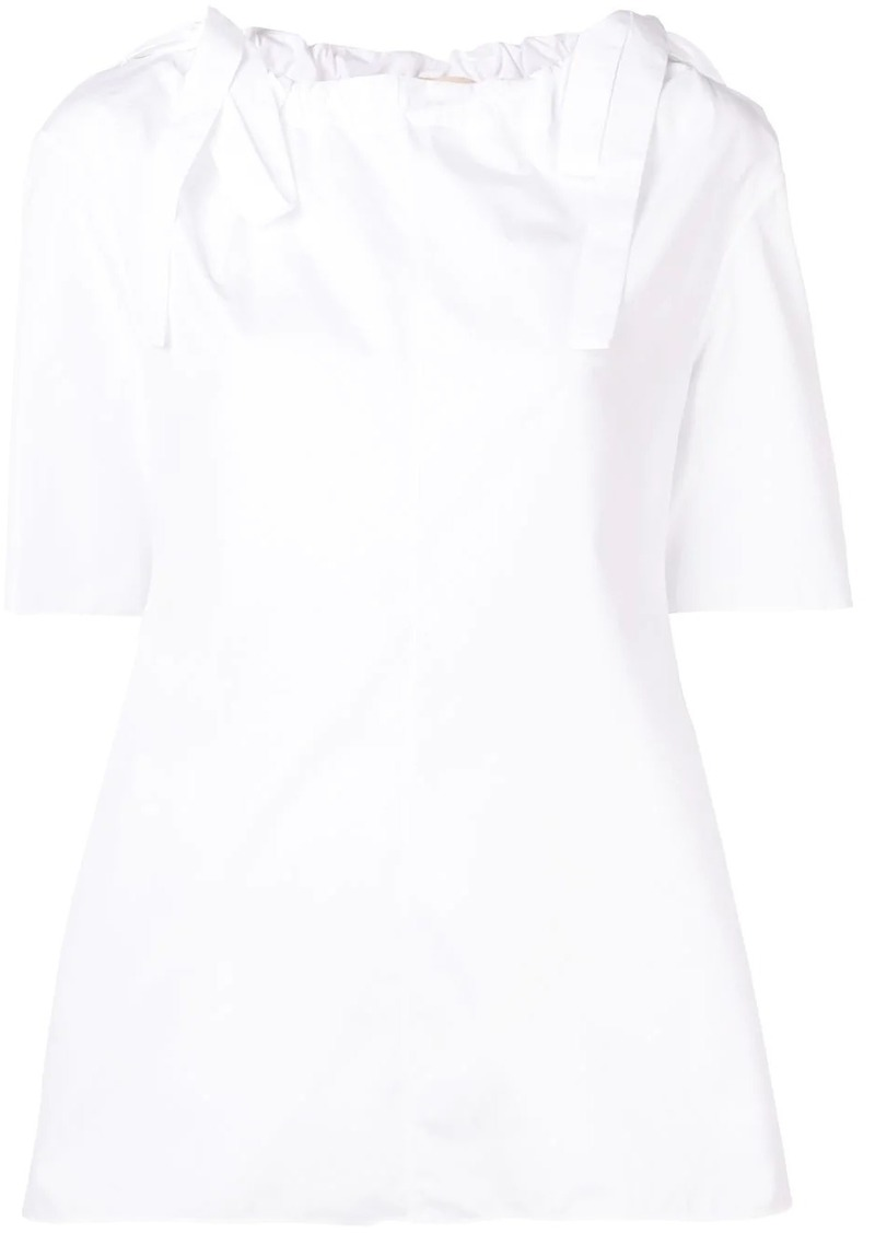 Marni drawstring neck blouse