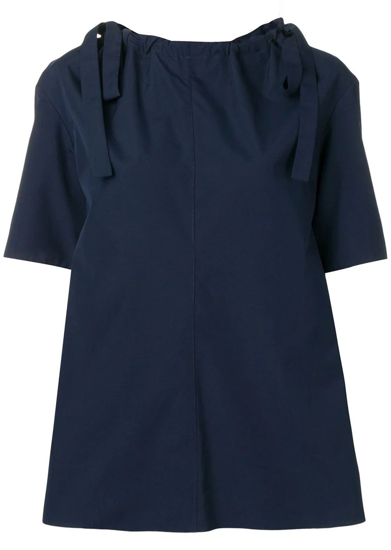 Marni drawstring neck top