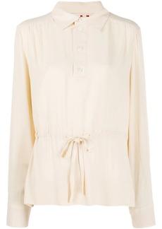 Marni drawstring waist tunic blouse