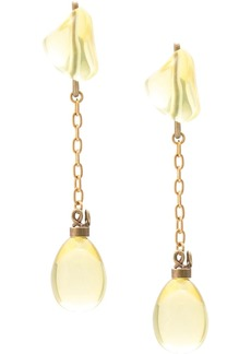 Marni drop charm earrings