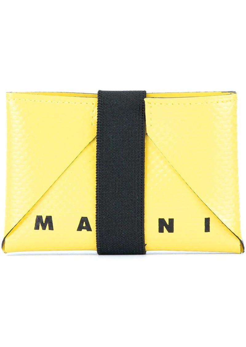 Marni elasticated band cardholder