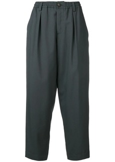 Marni elasticated waist tapered trousers