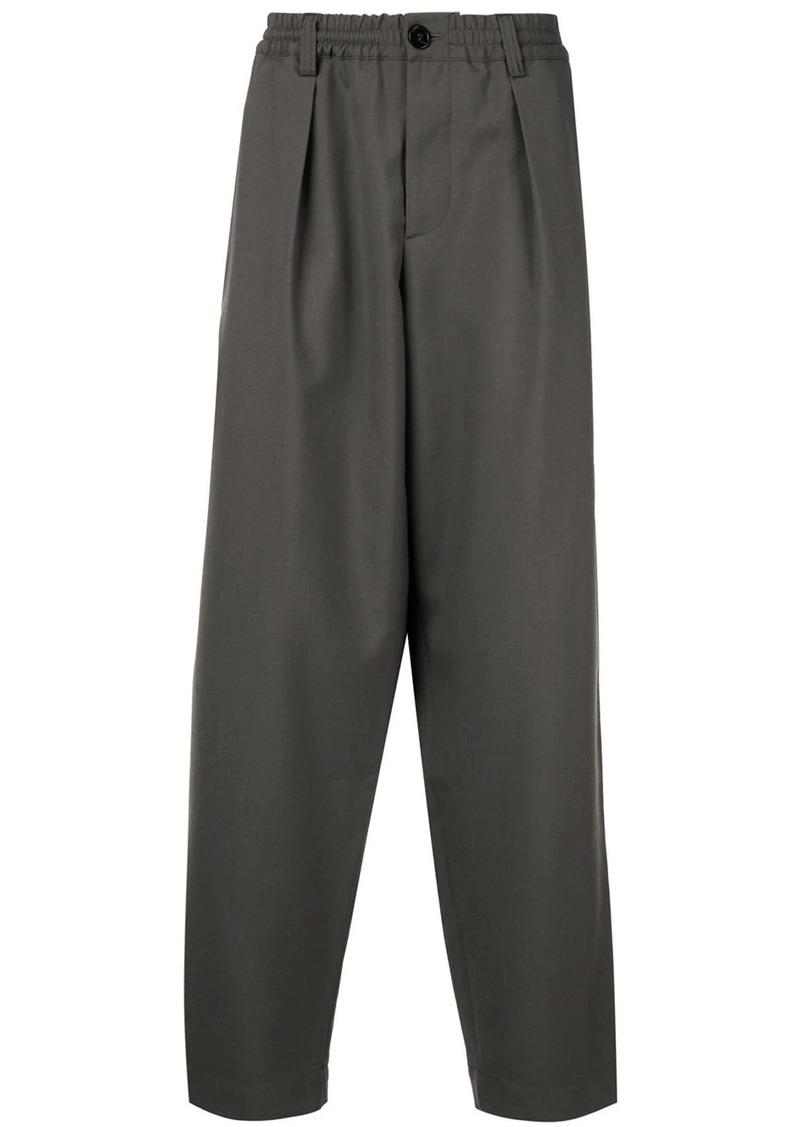 Marni elasticated-waist wide-leg trousers