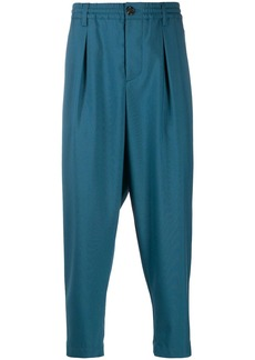 Marni elasticated waistband cropped trousers