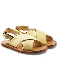 Marni Embellished Satin Sandals