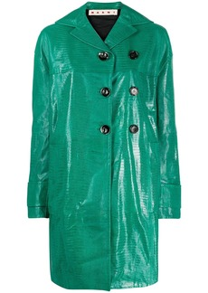 Marni crocodile-effect duster coat