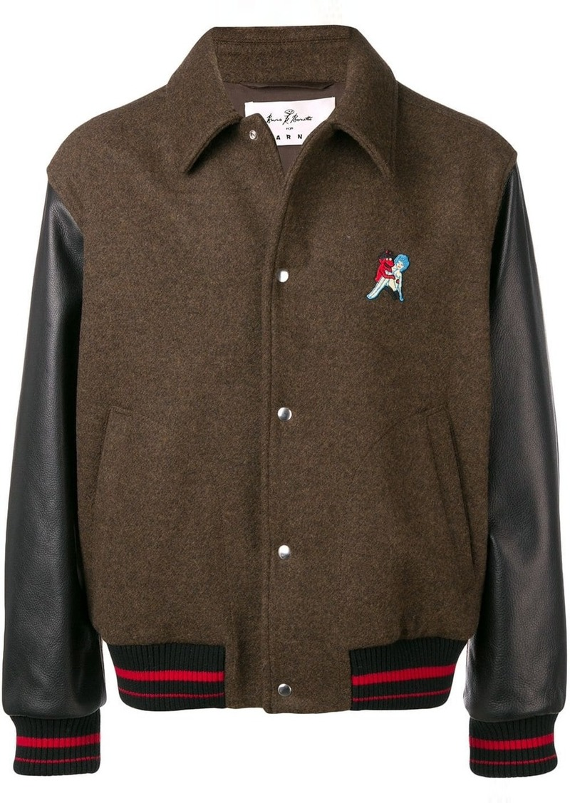 Marni embroidered bomber jacket