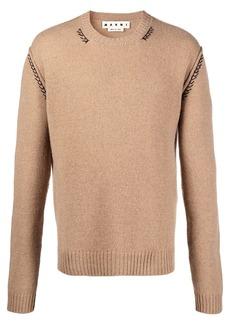 Marni embroidered cashmere-blend jumper