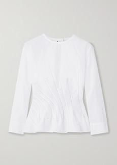 Marni Embroidered Cotton-poplin Blouse