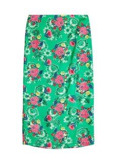 Marni Embroidered Pencil Skirt