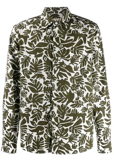 Marni eyed leaves print shirt