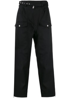 Marni eyelet belt army trousers