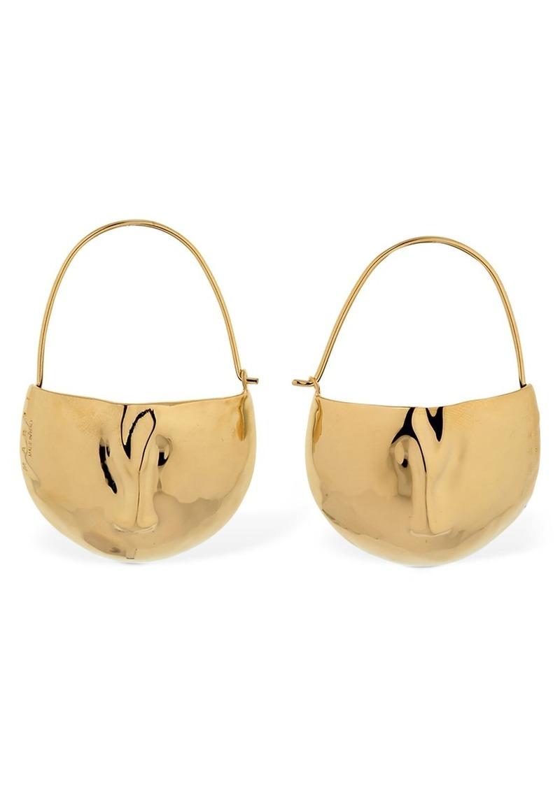 Marni Face Shape Enameled Earrings
