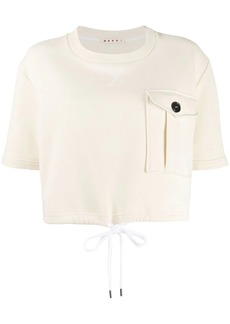 Marni flap pocket cropped sweatshirt