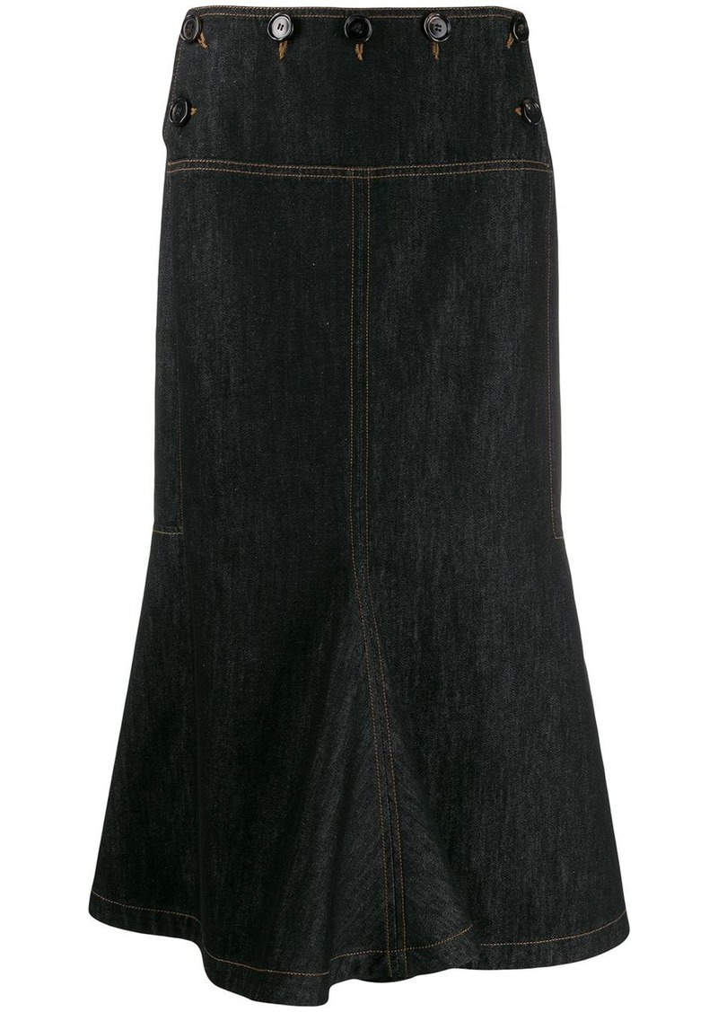 Marni flared denim skirt