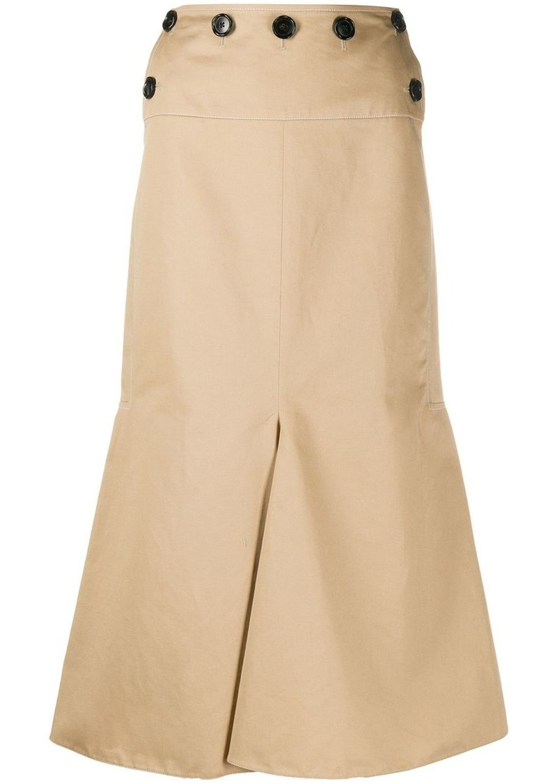 Marni flared-hem button-waist skirt