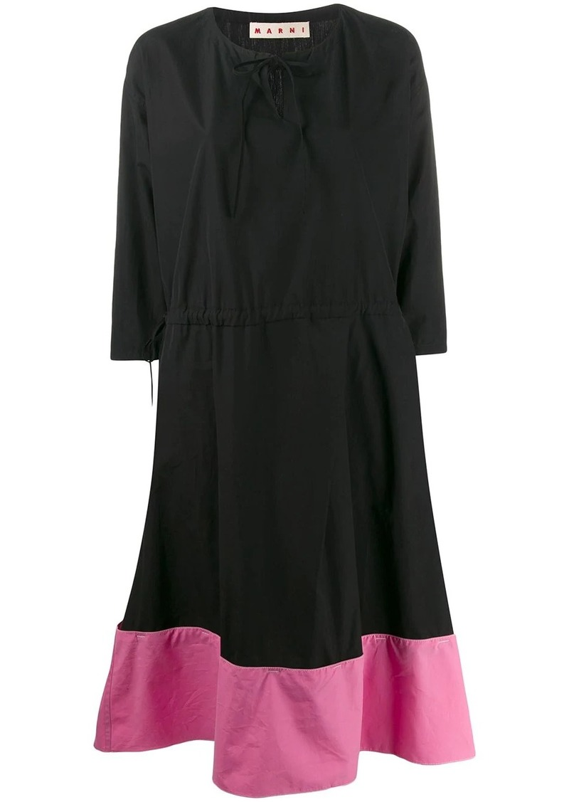 Marni flared midi dress