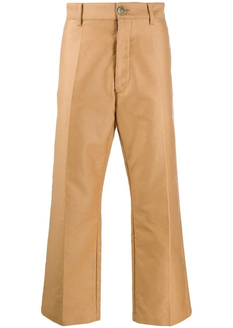 Marni compact cotton satin trousers