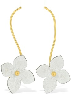 Marni Flora Leather Pendant Earrings