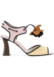 Marni floral-appliqué colour-block sandals