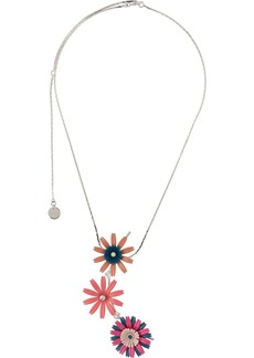 Marni floral charm necklace