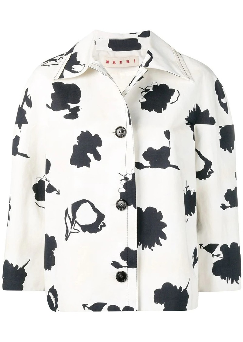 Marni floral cropped jacket