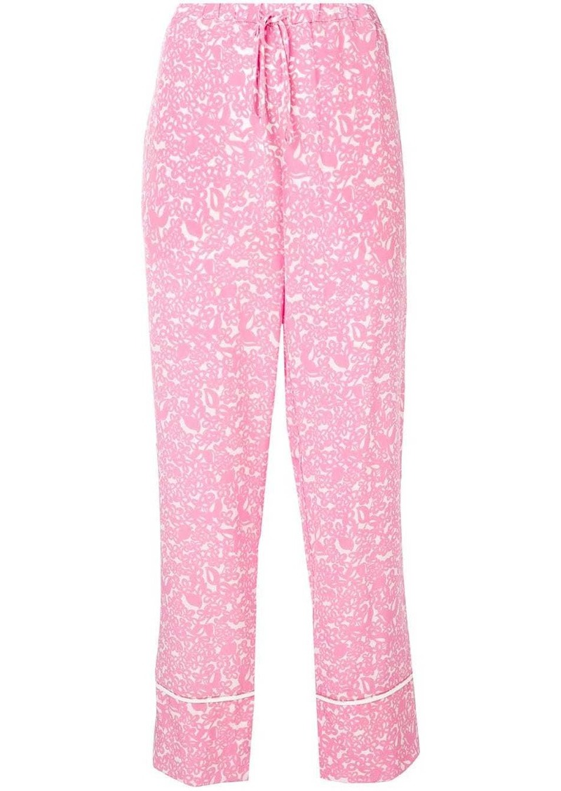 Marni floral drawstring flared trousers