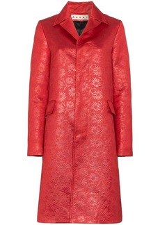 Marni floral embossed coat