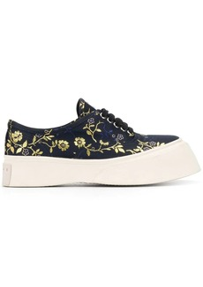 Marni floral embroidered flatform sneakers