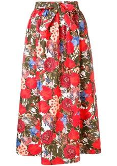 Marni floral print A-line skirt