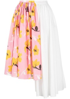 Marni floral-print asymmetric skirt