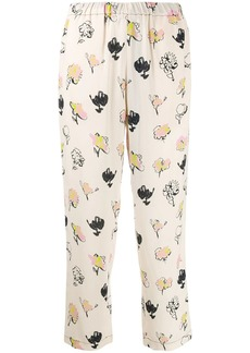 Marni floral print cropped trousers