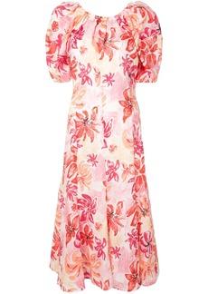 Marni floral print puff-sleeve dress