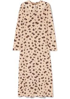 Marni Floral-print Silk-blend Crepe Maxi Dress