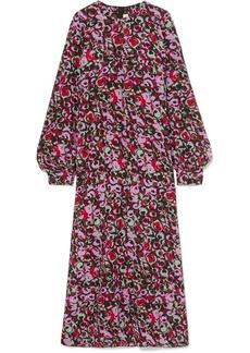Marni Floral-print Silk-crepe Maxi Dress