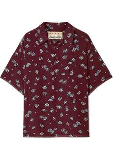 Marni Floral-print Silk-crepe Shirt