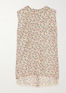 Marni Floral-print Silk-twill Top