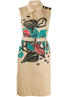 Marni floral print sleeveless midi dress